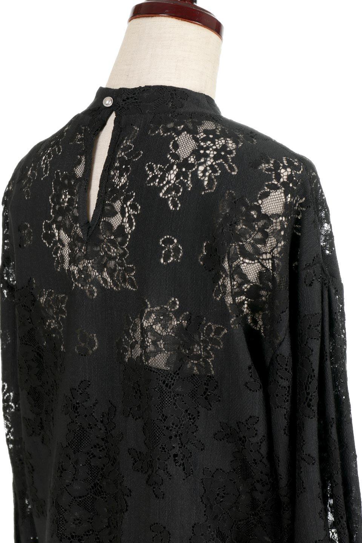 TuckSleevelaceblouseタックスリーブ・総レースブラウス大人カジュアルに最適な海外ファッションのothers(その他インポートアイテム)のトップスやシャツ・ブラウス。繊細なデザインで上品さたっぷりのレースブラウス。華奢な花柄レースのシースルーブラウスは360°どこから見ても美しい仕上がりです。/main-13
