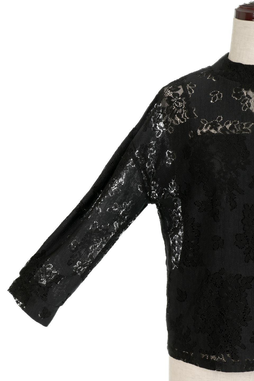 TuckSleevelaceblouseタックスリーブ・総レースブラウス大人カジュアルに最適な海外ファッションのothers(その他インポートアイテム)のトップスやシャツ・ブラウス。繊細なデザインで上品さたっぷりのレースブラウス。華奢な花柄レースのシースルーブラウスは360°どこから見ても美しい仕上がりです。/main-15