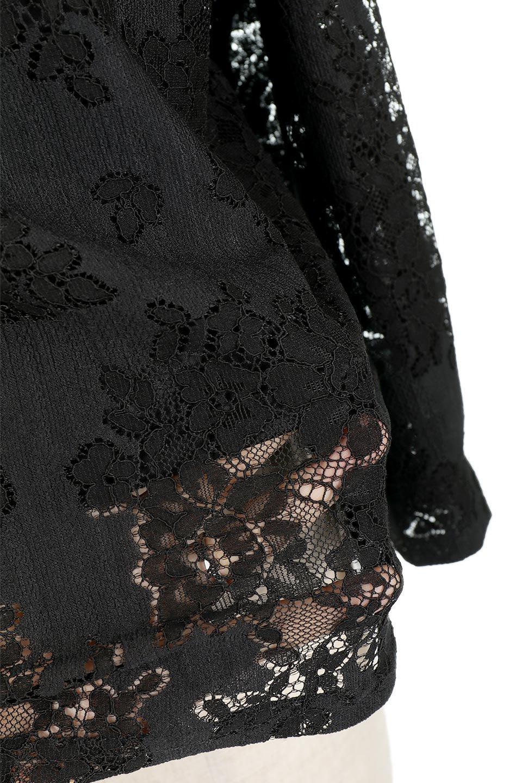 TuckSleevelaceblouseタックスリーブ・総レースブラウス大人カジュアルに最適な海外ファッションのothers(その他インポートアイテム)のトップスやシャツ・ブラウス。繊細なデザインで上品さたっぷりのレースブラウス。華奢な花柄レースのシースルーブラウスは360°どこから見ても美しい仕上がりです。/main-19