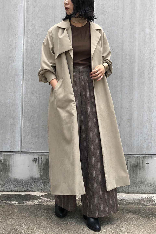 BackFlareLongCoatバックフレア・ロングコート大人カジュアルに最適な海外ファッションのothers(その他インポートアイテム)のアウターやコート。羽織るだけで決まる、トレンチライクなロングコート。羽織るだけで様になり、どんな身長にもマッチする絶妙な丈感。/main-15