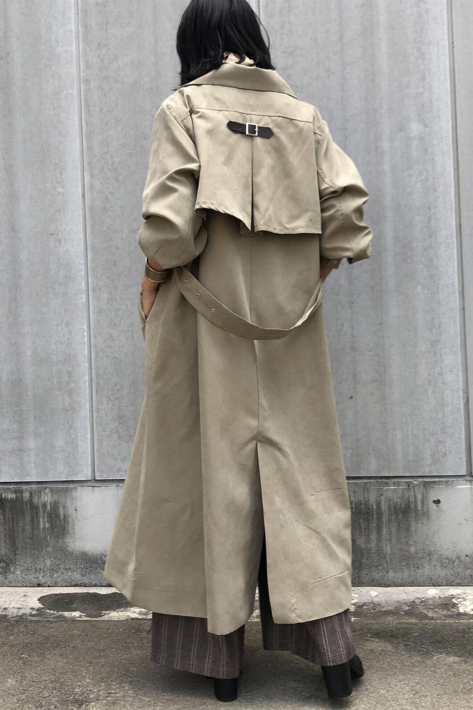 BackFlareLongCoatバックフレア・ロングコート大人カジュアルに最適な海外ファッションのothers(その他インポートアイテム)のアウターやコート。羽織るだけで決まる、トレンチライクなロングコート。羽織るだけで様になり、どんな身長にもマッチする絶妙な丈感。/main-16