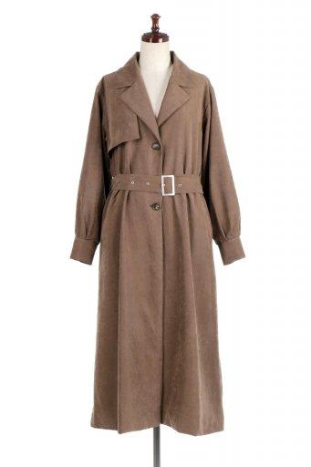 海外ファッションや大人カジュアルに最適なインポートセレクトアイテムのBack Flare Long Coat バックフレア・ロングコート