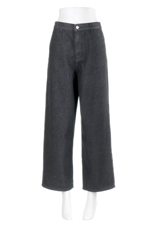 StraightWideLegDenimPantsストレートデニム・ワイドパンツ大人カジュアルに最適な海外ファッションのothers(その他インポートアイテム)のボトムやパンツ。きれいなラインが出る油デニム素材のワイドパンツ。カジュアルなデニムのワイドパンツですが、シックなブラック系で大人っぽいコーデを楽しめます。/main-5