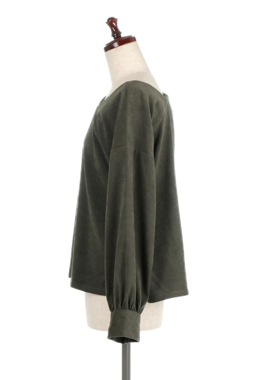 AsymmetricalV-NeckBlouseアシメントリー・Vネックブラウス大人カジュアルに最適な海外ファッションのothers(その他インポートアイテム)のアウターやジャケット。左右非対称のアシメントリーデザインが可愛い長袖ブラウス。温かみのある起毛されたヌバック風素材が季節感を演出。/main-12