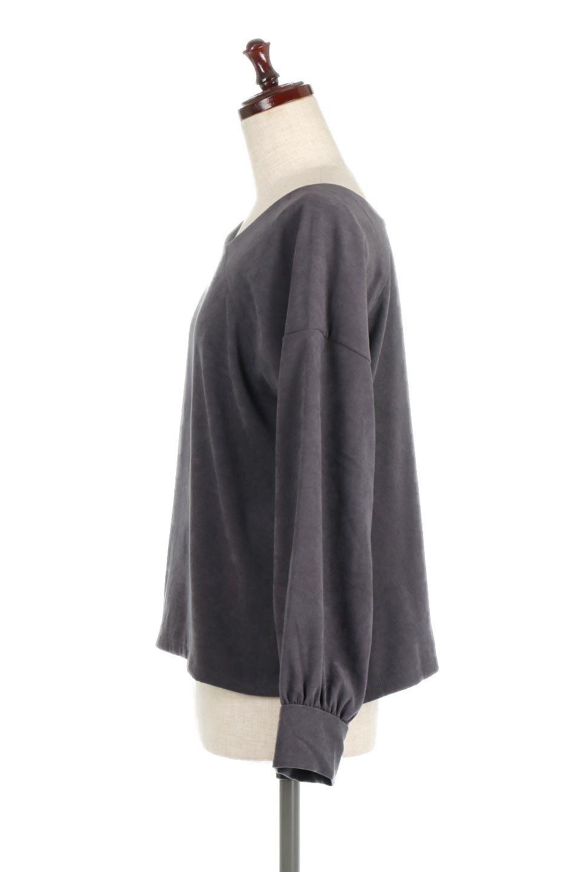 AsymmetricalV-NeckBlouseアシメントリー・Vネックブラウス大人カジュアルに最適な海外ファッションのothers(その他インポートアイテム)のアウターやジャケット。左右非対称のアシメントリーデザインが可愛い長袖ブラウス。温かみのある起毛されたヌバック風素材が季節感を演出。/main-17