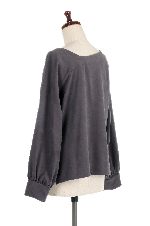 AsymmetricalV-NeckBlouseアシメントリー・Vネックブラウス大人カジュアルに最適な海外ファッションのothers(その他インポートアイテム)のアウターやジャケット。左右非対称のアシメントリーデザインが可愛い長袖ブラウス。温かみのある起毛されたヌバック風素材が季節感を演出。/main-18
