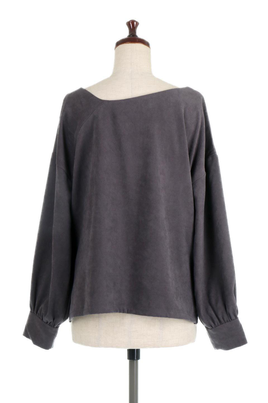 AsymmetricalV-NeckBlouseアシメントリー・Vネックブラウス大人カジュアルに最適な海外ファッションのothers(その他インポートアイテム)のアウターやジャケット。左右非対称のアシメントリーデザインが可愛い長袖ブラウス。温かみのある起毛されたヌバック風素材が季節感を演出。/main-19
