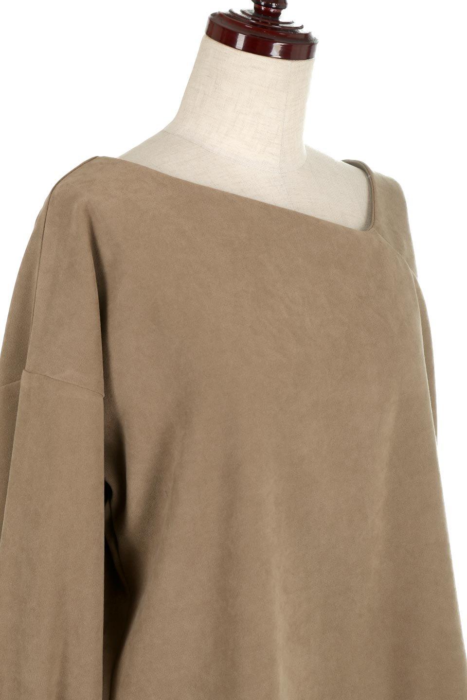 AsymmetricalV-NeckBlouseアシメントリー・Vネックブラウス大人カジュアルに最適な海外ファッションのothers(その他インポートアイテム)のアウターやジャケット。左右非対称のアシメントリーデザインが可愛い長袖ブラウス。温かみのある起毛されたヌバック風素材が季節感を演出。/main-20