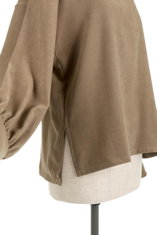 AsymmetricalV-NeckBlouseアシメントリー・Vネックブラウス大人カジュアルに最適な海外ファッションのothers(その他インポートアイテム)のアウターやジャケット。左右非対称のアシメントリーデザインが可愛い長袖ブラウス。温かみのある起毛されたヌバック風素材が季節感を演出。/main-24