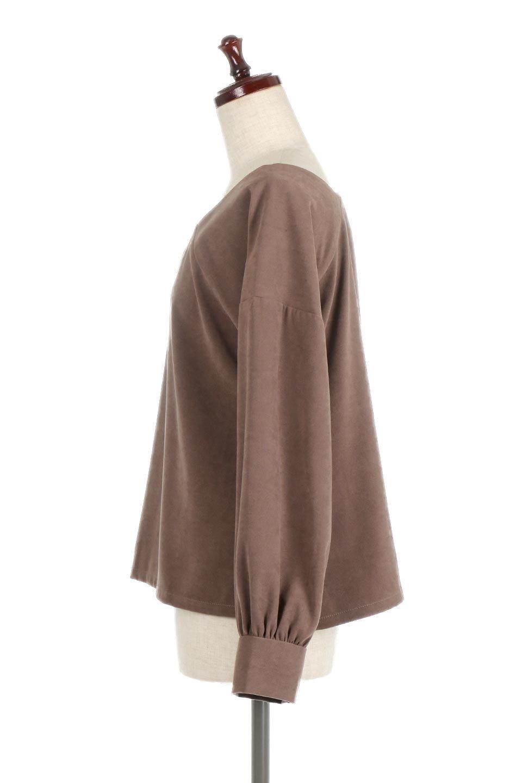 AsymmetricalV-NeckBlouseアシメントリー・Vネックブラウス大人カジュアルに最適な海外ファッションのothers(その他インポートアイテム)のアウターやジャケット。左右非対称のアシメントリーデザインが可愛い長袖ブラウス。温かみのある起毛されたヌバック風素材が季節感を演出。/main-7