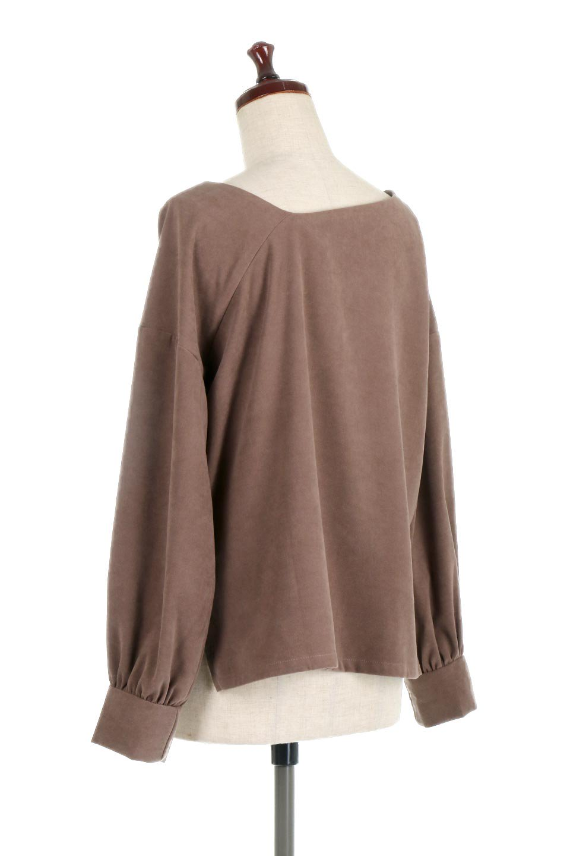 AsymmetricalV-NeckBlouseアシメントリー・Vネックブラウス大人カジュアルに最適な海外ファッションのothers(その他インポートアイテム)のアウターやジャケット。左右非対称のアシメントリーデザインが可愛い長袖ブラウス。温かみのある起毛されたヌバック風素材が季節感を演出。/main-8