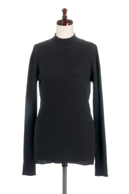 CottonWaffleHigh-NeckTopワッフル・ハイネックトップス大人カジュアルに最適な海外ファッションのothers(その他インポートアイテム)のトップスやカットソー。アウターのインナーとしても大活躍間違い無しのワッフル・ハイネックトップス。ハイネックのシンプルデザインと長めの袖が可愛いトップスです。/main-10
