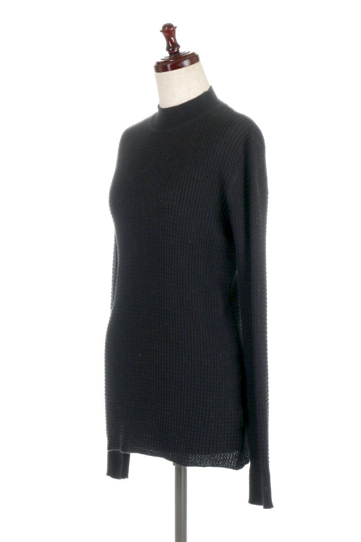 CottonWaffleHigh-NeckTopワッフル・ハイネックトップス大人カジュアルに最適な海外ファッションのothers(その他インポートアイテム)のトップスやカットソー。アウターのインナーとしても大活躍間違い無しのワッフル・ハイネックトップス。ハイネックのシンプルデザインと長めの袖が可愛いトップスです。/main-11
