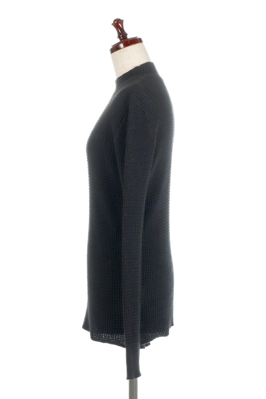 CottonWaffleHigh-NeckTopワッフル・ハイネックトップス大人カジュアルに最適な海外ファッションのothers(その他インポートアイテム)のトップスやカットソー。アウターのインナーとしても大活躍間違い無しのワッフル・ハイネックトップス。ハイネックのシンプルデザインと長めの袖が可愛いトップスです。/main-12