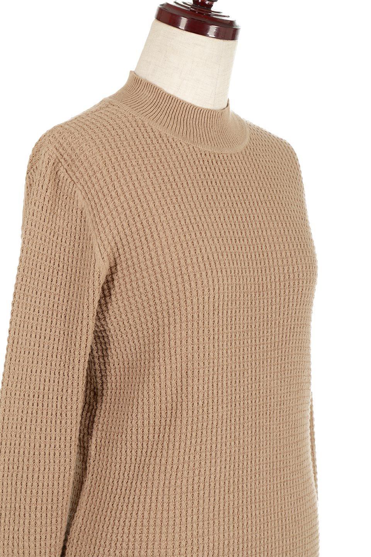 CottonWaffleHigh-NeckTopワッフル・ハイネックトップス大人カジュアルに最適な海外ファッションのothers(その他インポートアイテム)のトップスやカットソー。アウターのインナーとしても大活躍間違い無しのワッフル・ハイネックトップス。ハイネックのシンプルデザインと長めの袖が可愛いトップスです。/main-15