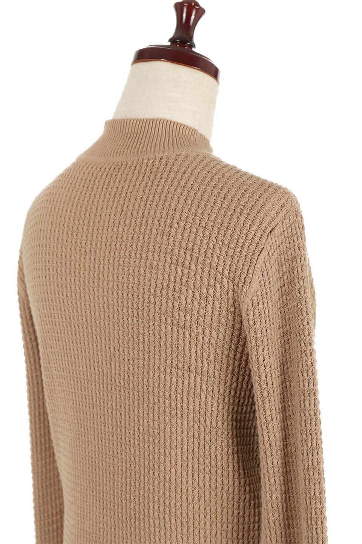 CottonWaffleHigh-NeckTopワッフル・ハイネックトップス大人カジュアルに最適な海外ファッションのothers(その他インポートアイテム)のトップスやカットソー。アウターのインナーとしても大活躍間違い無しのワッフル・ハイネックトップス。ハイネックのシンプルデザインと長めの袖が可愛いトップスです。/main-16