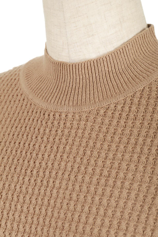CottonWaffleHigh-NeckTopワッフル・ハイネックトップス大人カジュアルに最適な海外ファッションのothers(その他インポートアイテム)のトップスやカットソー。アウターのインナーとしても大活躍間違い無しのワッフル・ハイネックトップス。ハイネックのシンプルデザインと長めの袖が可愛いトップスです。/main-17