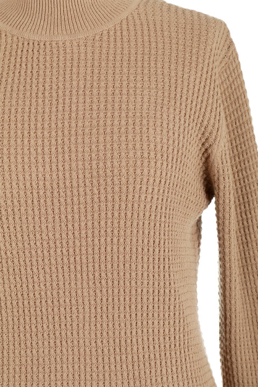 CottonWaffleHigh-NeckTopワッフル・ハイネックトップス大人カジュアルに最適な海外ファッションのothers(その他インポートアイテム)のトップスやカットソー。アウターのインナーとしても大活躍間違い無しのワッフル・ハイネックトップス。ハイネックのシンプルデザインと長めの袖が可愛いトップスです。/main-18