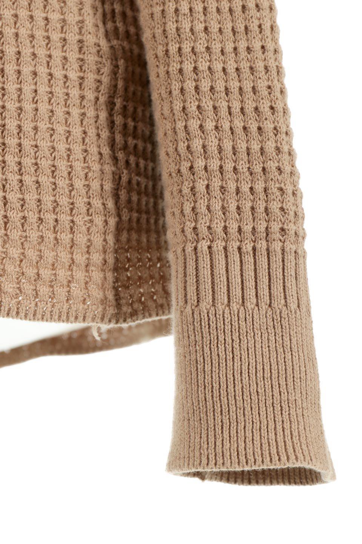 CottonWaffleHigh-NeckTopワッフル・ハイネックトップス大人カジュアルに最適な海外ファッションのothers(その他インポートアイテム)のトップスやカットソー。アウターのインナーとしても大活躍間違い無しのワッフル・ハイネックトップス。ハイネックのシンプルデザインと長めの袖が可愛いトップスです。/main-19