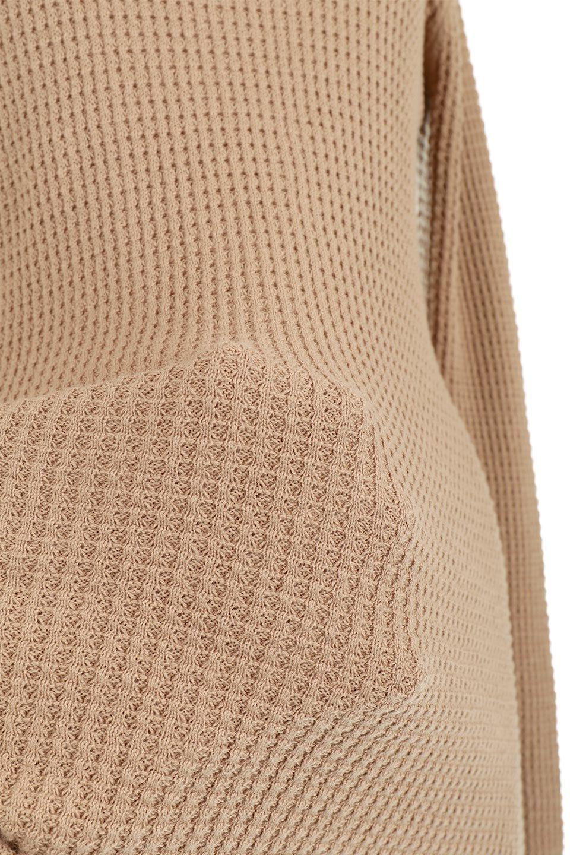 CottonWaffleHigh-NeckTopワッフル・ハイネックトップス大人カジュアルに最適な海外ファッションのothers(その他インポートアイテム)のトップスやカットソー。アウターのインナーとしても大活躍間違い無しのワッフル・ハイネックトップス。ハイネックのシンプルデザインと長めの袖が可愛いトップスです。/main-20