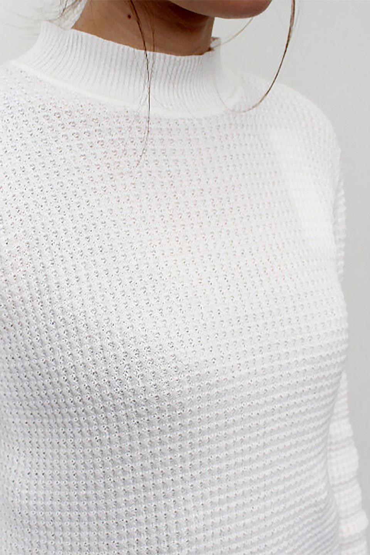 CottonWaffleHigh-NeckTopワッフル・ハイネックトップス大人カジュアルに最適な海外ファッションのothers(その他インポートアイテム)のトップスやカットソー。アウターのインナーとしても大活躍間違い無しのワッフル・ハイネックトップス。ハイネックのシンプルデザインと長めの袖が可愛いトップスです。/main-21