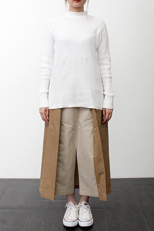 CottonWaffleHigh-NeckTopワッフル・ハイネックトップス大人カジュアルに最適な海外ファッションのothers(その他インポートアイテム)のトップスやカットソー。アウターのインナーとしても大活躍間違い無しのワッフル・ハイネックトップス。ハイネックのシンプルデザインと長めの袖が可愛いトップスです。/main-22