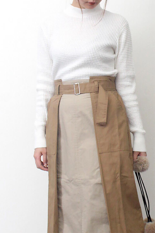 CottonWaffleHigh-NeckTopワッフル・ハイネックトップス大人カジュアルに最適な海外ファッションのothers(その他インポートアイテム)のトップスやカットソー。アウターのインナーとしても大活躍間違い無しのワッフル・ハイネックトップス。ハイネックのシンプルデザインと長めの袖が可愛いトップスです。/main-23