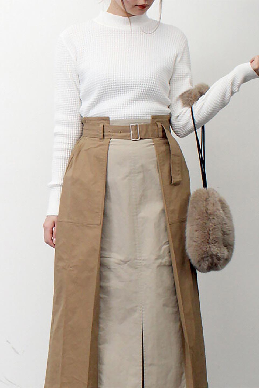 CottonWaffleHigh-NeckTopワッフル・ハイネックトップス大人カジュアルに最適な海外ファッションのothers(その他インポートアイテム)のトップスやカットソー。アウターのインナーとしても大活躍間違い無しのワッフル・ハイネックトップス。ハイネックのシンプルデザインと長めの袖が可愛いトップスです。/main-24