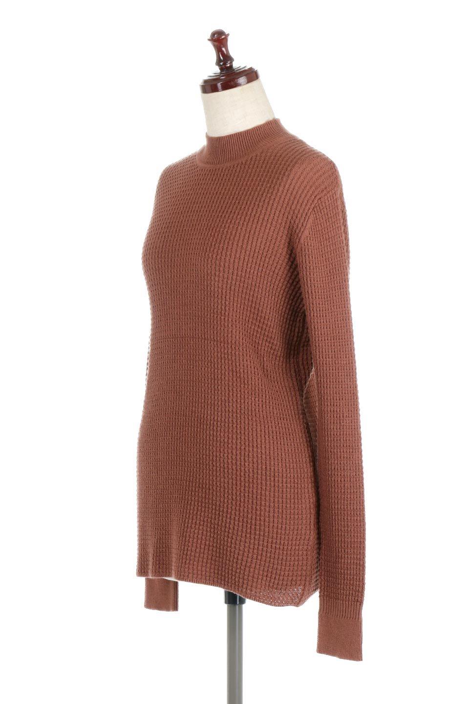 CottonWaffleHigh-NeckTopワッフル・ハイネックトップス大人カジュアルに最適な海外ファッションのothers(その他インポートアイテム)のトップスやカットソー。アウターのインナーとしても大活躍間違い無しのワッフル・ハイネックトップス。ハイネックのシンプルデザインと長めの袖が可愛いトップスです。/main-6