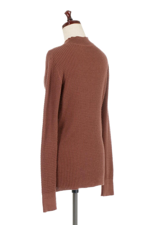 CottonWaffleHigh-NeckTopワッフル・ハイネックトップス大人カジュアルに最適な海外ファッションのothers(その他インポートアイテム)のトップスやカットソー。アウターのインナーとしても大活躍間違い無しのワッフル・ハイネックトップス。ハイネックのシンプルデザインと長めの袖が可愛いトップスです。/main-8