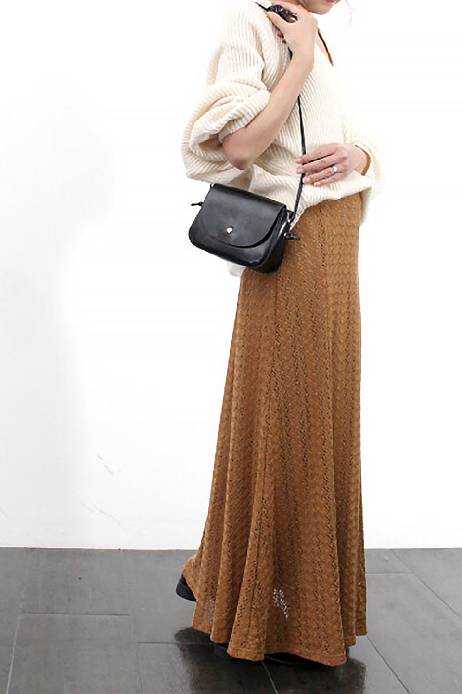 TextureWeaveMermaidSkirt模様編み・マーメイドスカート大人カジュアルに最適な海外ファッションのothers(その他インポートアイテム)のボトムやスカート。上品な模様編みを施したマキシ丈のマーメイドスカート。モデルの写真の通り超脚長効果が期待できる美脚スカートです。/main-26