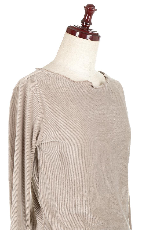VelourCorduroyBoatNeckTopベロアコーデュロイ・ボートネックトップス大人カジュアルに最適な海外ファッションのothers(その他インポートアイテム)のトップスやカットソー。上品な光沢感が自慢のベロア個ーづロイを使用したトップス。凹凸感のあるストレッチ素材なので、細身の袖でも窮屈感はありません。/main-20