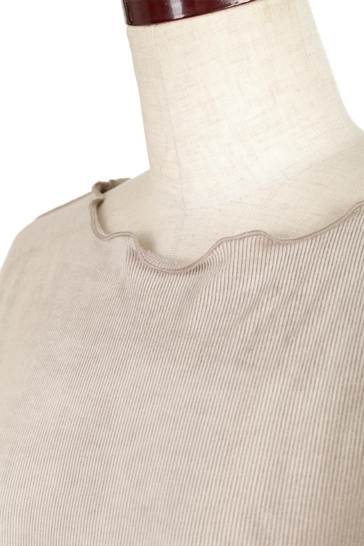 VelourCorduroyBoatNeckTopベロアコーデュロイ・ボートネックトップス大人カジュアルに最適な海外ファッションのothers(その他インポートアイテム)のトップスやカットソー。上品な光沢感が自慢のベロア個ーづロイを使用したトップス。凹凸感のあるストレッチ素材なので、細身の袖でも窮屈感はありません。/main-21