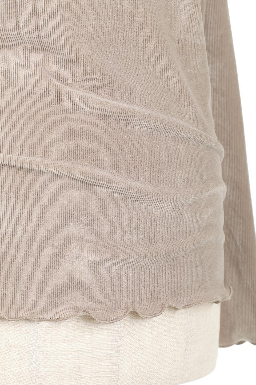 VelourCorduroyBoatNeckTopベロアコーデュロイ・ボートネックトップス大人カジュアルに最適な海外ファッションのothers(その他インポートアイテム)のトップスやカットソー。上品な光沢感が自慢のベロア個ーづロイを使用したトップス。凹凸感のあるストレッチ素材なので、細身の袖でも窮屈感はありません。/main-24