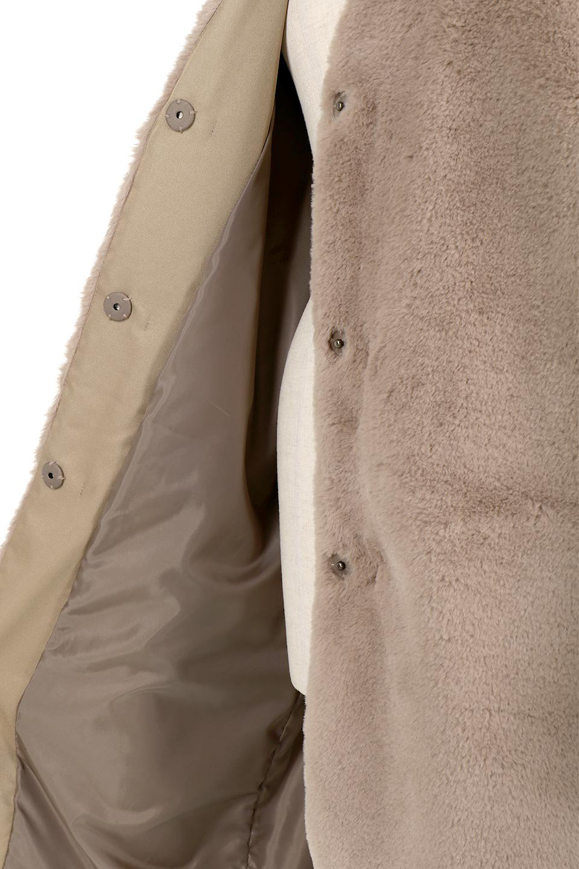 VelourEcoFurCollarlessLongCoatベロア風エコファー・ロングコート大人カジュアルに最適な海外ファッションのothers(その他インポートアイテム)のアウターやコート。ベロア風のエコファーを用いたノーカラーのロングコート。合わせるインナーを選ばないオールマイティーなアイテム。/main-17