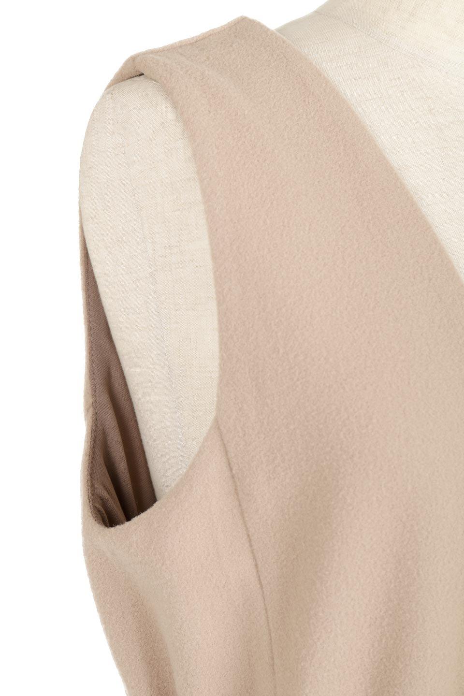 DeepVNeckFleeceLongDressVネック・フリースワンピース大人カジュアルに最適な海外ファッションのothers(その他インポートアイテム)のワンピースやマキシワンピース。肌触りの良いフリース風の素材を用いたVネックワンピース。表面は若干起毛され温かみのある風合い。/main-12