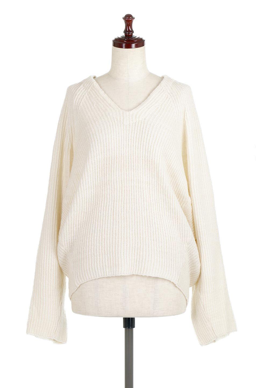 DolmanSleeveVNeckKnitTopドルマンスリーブ・モヘア風ニット大人カジュアルに最適な海外ファッションのothers(その他インポートアイテム)のトップスやニット・セーター。何枚でも欲しくなるドルマンスリーブのゆったりニット。スカートでもパンツでもオールマイティーにコーデが楽しめる便利トップスです。/main-5