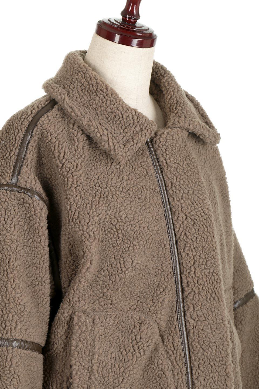 BoaFleeceFlightJacketボアフリース・フライトジャケット大人カジュアルに最適な海外ファッションのothers(その他インポートアイテム)のアウターやコート。フカフカのボアフリースを使用したフライトジャケット風のショートコート。メンズライクなディテールのジャケットをオーバーサイズで可愛く着崩せます。/main-10