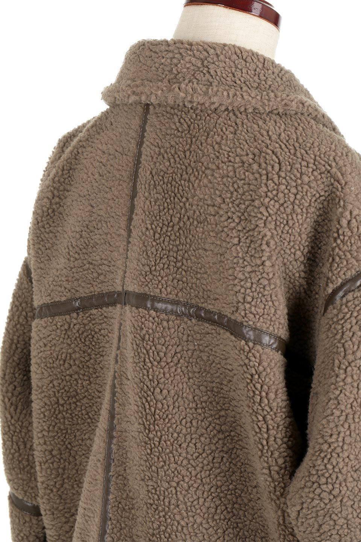 BoaFleeceFlightJacketボアフリース・フライトジャケット大人カジュアルに最適な海外ファッションのothers(その他インポートアイテム)のアウターやコート。フカフカのボアフリースを使用したフライトジャケット風のショートコート。メンズライクなディテールのジャケットをオーバーサイズで可愛く着崩せます。/main-11