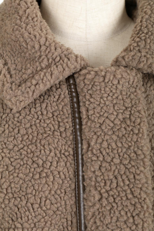 BoaFleeceFlightJacketボアフリース・フライトジャケット大人カジュアルに最適な海外ファッションのothers(その他インポートアイテム)のアウターやコート。フカフカのボアフリースを使用したフライトジャケット風のショートコート。メンズライクなディテールのジャケットをオーバーサイズで可愛く着崩せます。/main-12