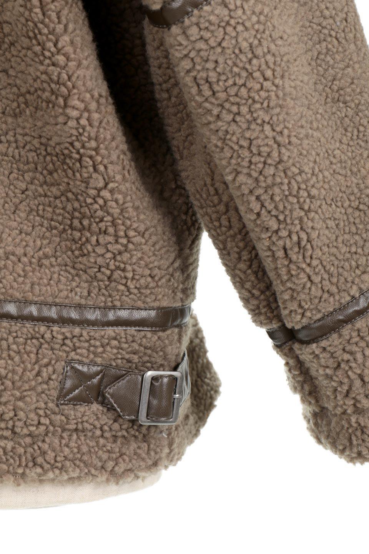 BoaFleeceFlightJacketボアフリース・フライトジャケット大人カジュアルに最適な海外ファッションのothers(その他インポートアイテム)のアウターやコート。フカフカのボアフリースを使用したフライトジャケット風のショートコート。メンズライクなディテールのジャケットをオーバーサイズで可愛く着崩せます。/main-14