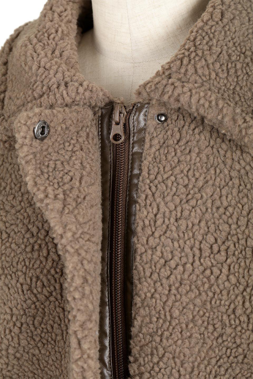 BoaFleeceFlightJacketボアフリース・フライトジャケット大人カジュアルに最適な海外ファッションのothers(その他インポートアイテム)のアウターやコート。フカフカのボアフリースを使用したフライトジャケット風のショートコート。メンズライクなディテールのジャケットをオーバーサイズで可愛く着崩せます。/main-16