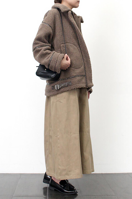 BoaFleeceFlightJacketボアフリース・フライトジャケット大人カジュアルに最適な海外ファッションのothers(その他インポートアイテム)のアウターやコート。フカフカのボアフリースを使用したフライトジャケット風のショートコート。メンズライクなディテールのジャケットをオーバーサイズで可愛く着崩せます。/main-19