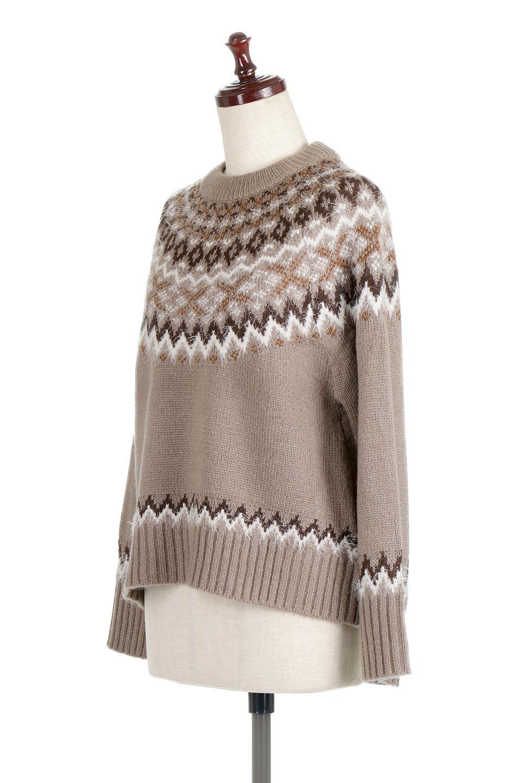 AcrylicMohairNordicSweaterアクリルモヘア・ノルディックセーター大人カジュアルに最適な海外ファッションのothers(その他インポートアイテム)のトップスやニット・セーター。毎年根強い人気のノルディックセーター。首周りをぐるりと囲むノルディック柄が可愛いセーターです。/main-11