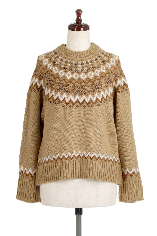 AcrylicMohairNordicSweaterアクリルモヘア・ノルディックセーター大人カジュアルに最適な海外ファッションのothers(その他インポートアイテム)のトップスやニット・セーター。毎年根強い人気のノルディックセーター。首周りをぐるりと囲むノルディック柄が可愛いセーターです。/main-15