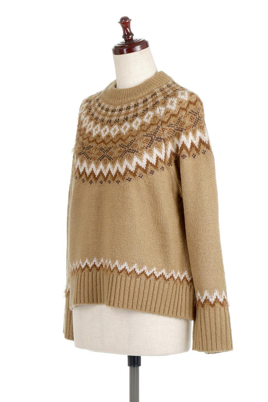 AcrylicMohairNordicSweaterアクリルモヘア・ノルディックセーター大人カジュアルに最適な海外ファッションのothers(その他インポートアイテム)のトップスやニット・セーター。毎年根強い人気のノルディックセーター。首周りをぐるりと囲むノルディック柄が可愛いセーターです。/main-16