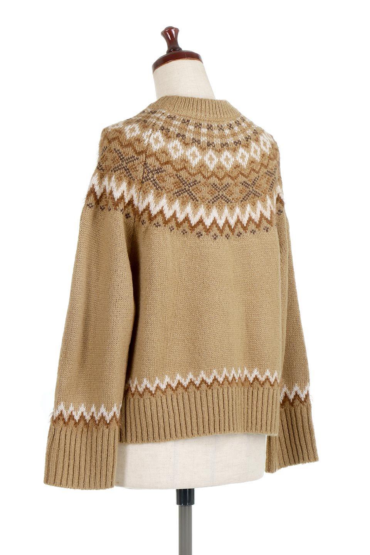 AcrylicMohairNordicSweaterアクリルモヘア・ノルディックセーター大人カジュアルに最適な海外ファッションのothers(その他インポートアイテム)のトップスやニット・セーター。毎年根強い人気のノルディックセーター。首周りをぐるりと囲むノルディック柄が可愛いセーターです。/main-18
