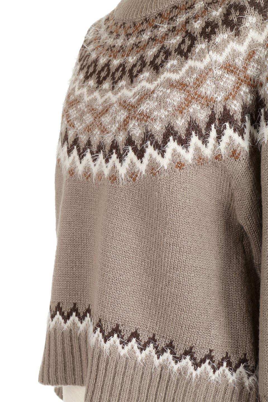 AcrylicMohairNordicSweaterアクリルモヘア・ノルディックセーター大人カジュアルに最適な海外ファッションのothers(その他インポートアイテム)のトップスやニット・セーター。毎年根強い人気のノルディックセーター。首周りをぐるりと囲むノルディック柄が可愛いセーターです。/main-22