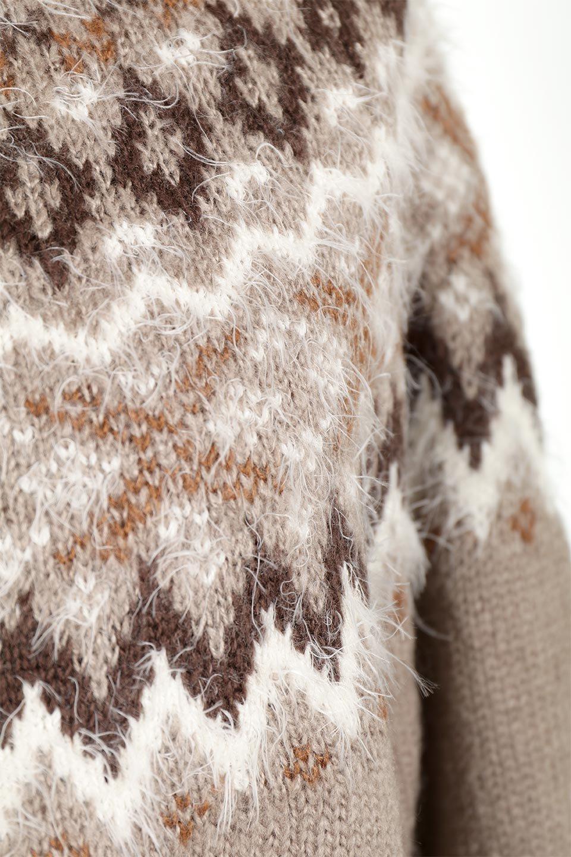 AcrylicMohairNordicSweaterアクリルモヘア・ノルディックセーター大人カジュアルに最適な海外ファッションのothers(その他インポートアイテム)のトップスやニット・セーター。毎年根強い人気のノルディックセーター。首周りをぐるりと囲むノルディック柄が可愛いセーターです。/main-23