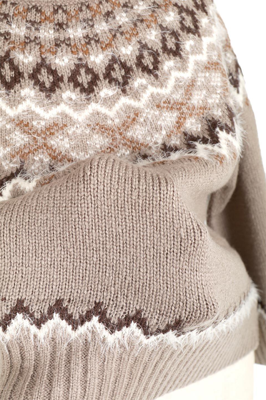 AcrylicMohairNordicSweaterアクリルモヘア・ノルディックセーター大人カジュアルに最適な海外ファッションのothers(その他インポートアイテム)のトップスやニット・セーター。毎年根強い人気のノルディックセーター。首周りをぐるりと囲むノルディック柄が可愛いセーターです。/main-27